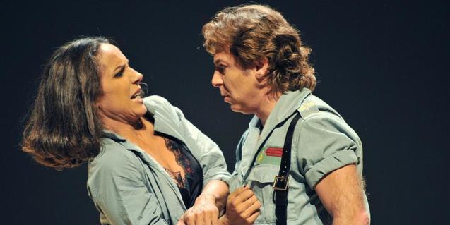 Un moment de l'òpera 'Carmen', produïda per Calixto Bieito