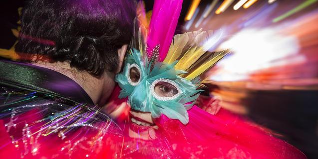 Una máscara típica de la fiesta.