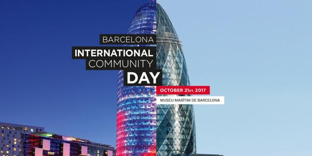 A poster for the fourth edition of Barcelona International Community Day