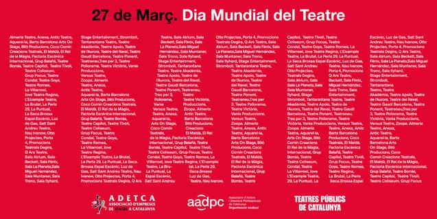 El món de les arts escèniques organitza diversos actes per celebrar el seu dia