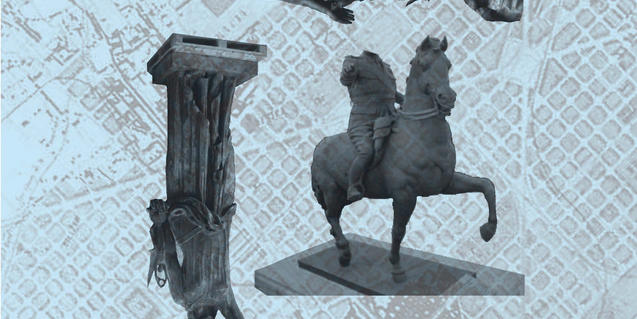 La mostra se centra en tres escultures que varen formar part del paisatge urbà