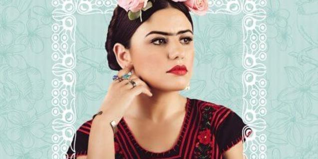 Cartel de la obra sobre Frida Kahlo