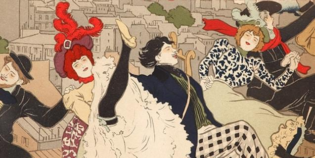 One of Toulouse-Lautrec's famous posters