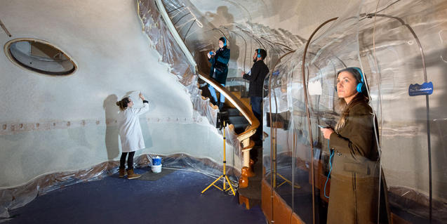 The restoration work at Casa Batlló