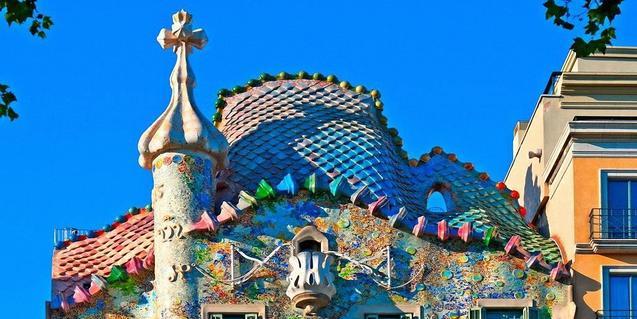 Tejado de la Casa Batlló.