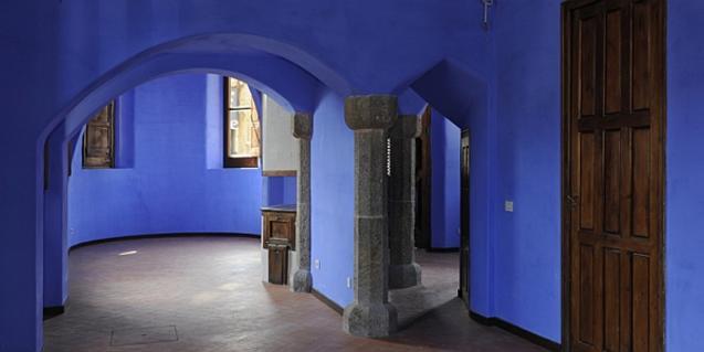 The inside of the Casa del Guarda
