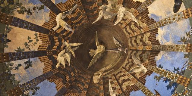 Els ocells, a la cúpula del menjador.