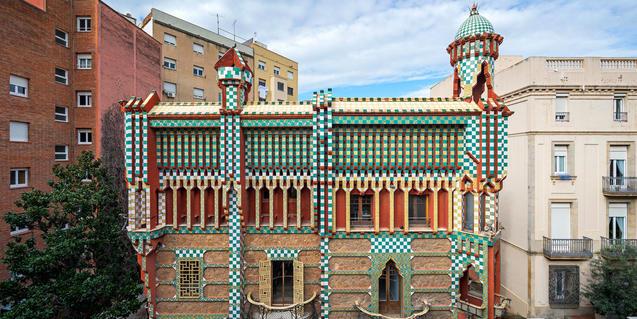 Imatge parcial de la façana de la Casa Vicens