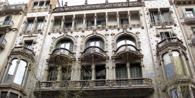 Imagen de la fachada de Domènech i Montaner