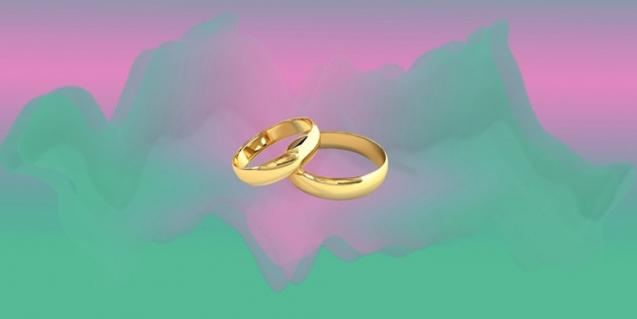 Fotografía de Ariadna Parreu de dos anillos de boda