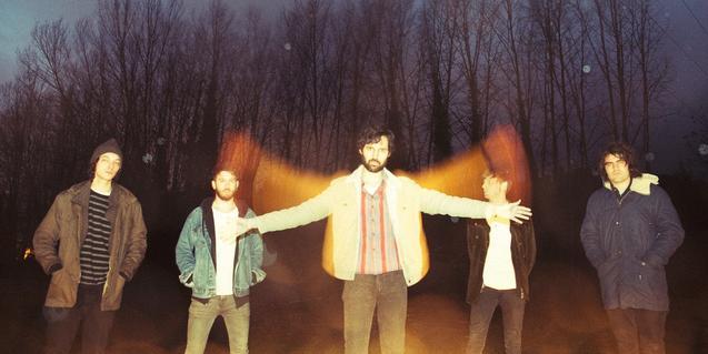 Els integrants de la banda de rock psicodèlic Celestial Bums
