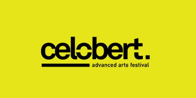 El logotip que identifica el festival Celobert sobre un fons de color groc