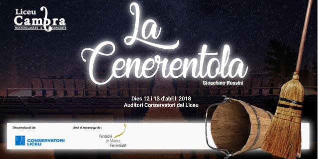 Cartell que anuncia l'òpera que interpretaran els alumnes del Màster