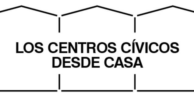 Logotipo de la campaña de actividades de los centros cívicos durante el confinamiento