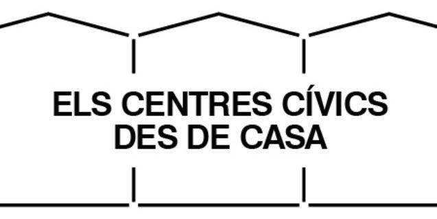 Logotip de la campanya d'activitats dels centres cívics durant el confinament