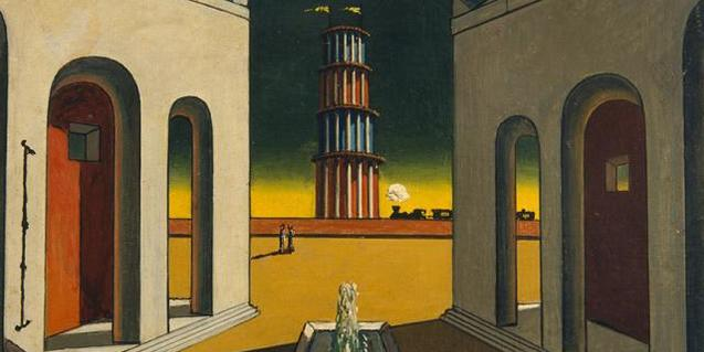 Una de las famosas 'piazze' del pintor Chirico