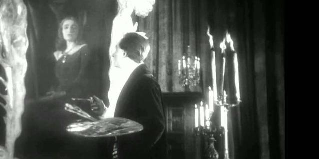 Una imatge del film que mostra el protagonista pintant un quadre