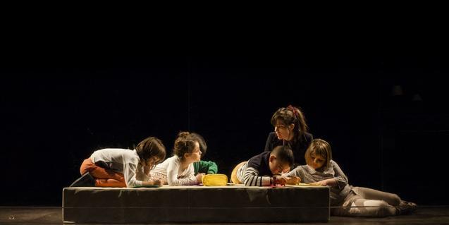 Un momento de 'Cine', último montaje de 'La Tristura'