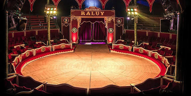 Una imatge de la pista d'aquest circ històric.