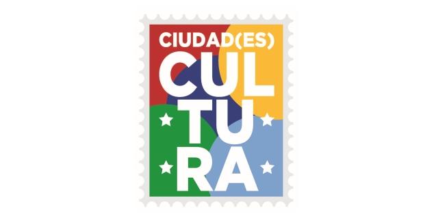 Logotipo: un sello incluyendo la inscripció CIUDAD(ES) CULTURA en su interior