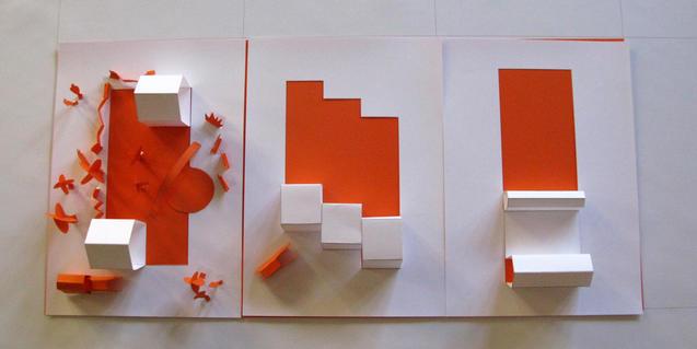 Maqueta de edificios de papel