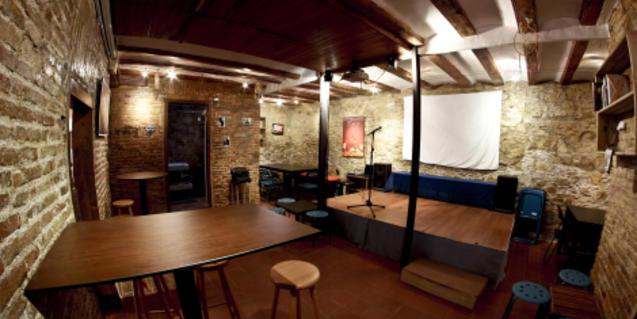 Una imatge de les instal·lacions del club buides a causa del confinament