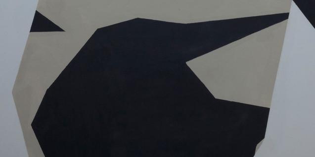 Una de les obres abstractes que s'exposen aquests dies a la galeria