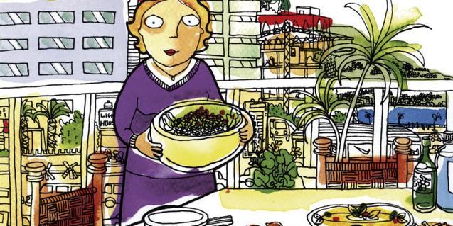 Una de les imatges de cómic que es mostren a l'exposició