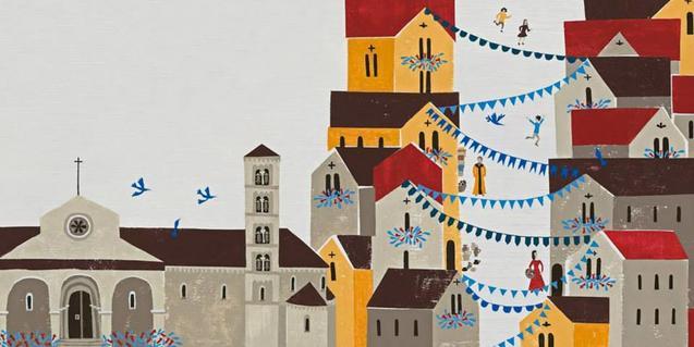 Il·lustració interior del llibre Guislabert de Barcelona i el misteri de la Catedral
