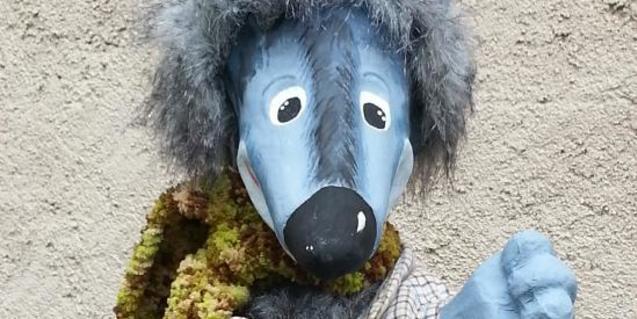 Fotografia del titella del llop