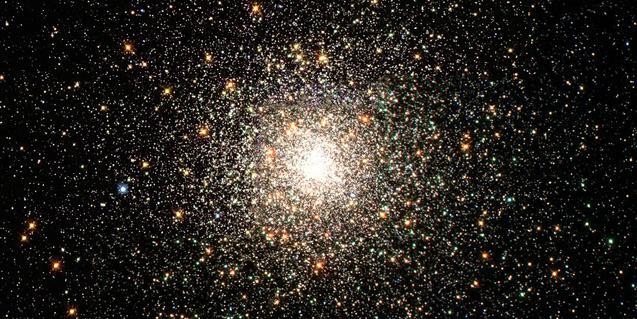 Imatge astronòmica d'un cúmul globular d'estrelles