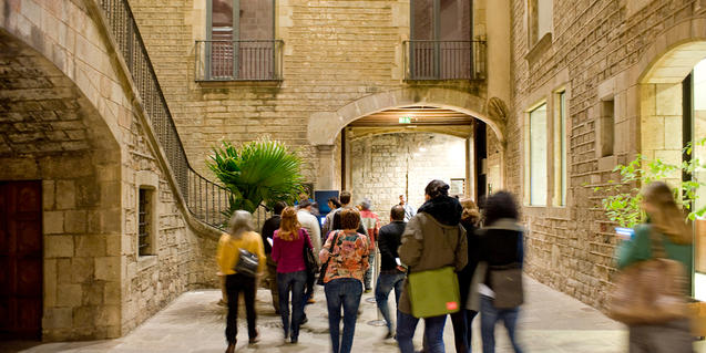 públic a les visites guiades del Museu Picasso