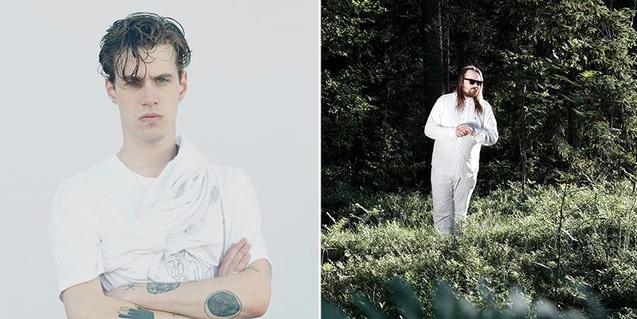 Doble retrato del músico Croatian Amor a la izquierda y de Varg a la derecha