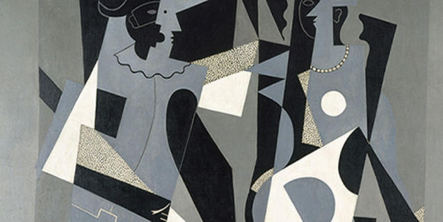 'Arlequín y mujer con collar', de Picasso, es una de las telas presentes en la muestra