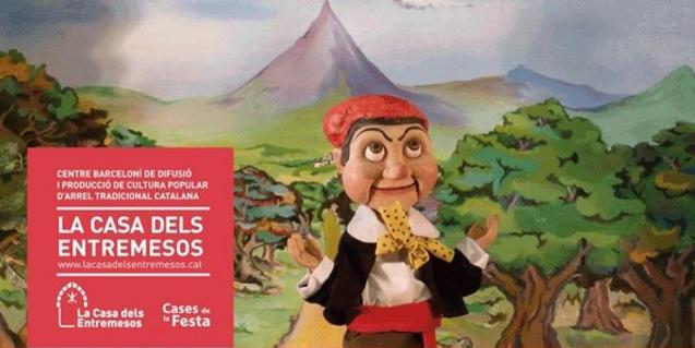 Cartell de l'espectacle on s'hi veu el titella protagonista