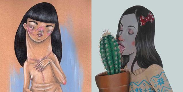 Dues de les obres que podreu veure a l'exposició