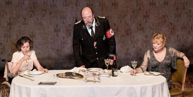Los tres intérpretes de 'Davant la jubilació'