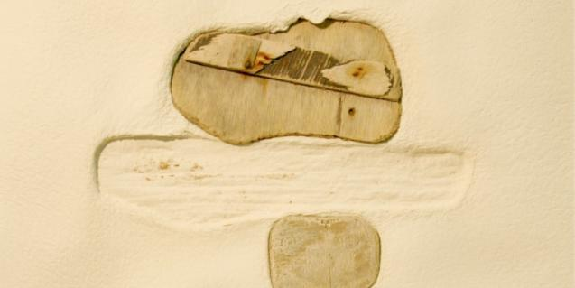 Una de les obres que Eusebi Vila exposa al Museu Marítim