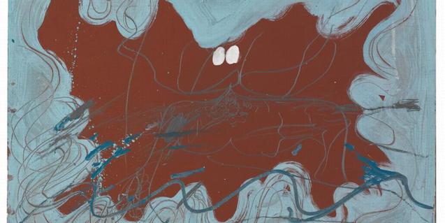 Un dibujo de Tàpies, entre los muchos que hay en la exposición