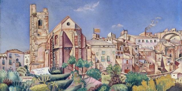 'Mont-roig, l'església i el poble' és una de les pintures de Joan Miró que trobareu al catàleg de la Fundació
