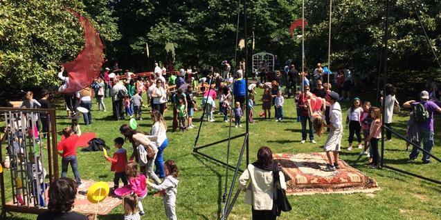 Fotografía del taller de circo de Los Herrerita
