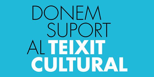 Banner que publicita las medidas destinadas a ofrecer apoyo al sector cultural