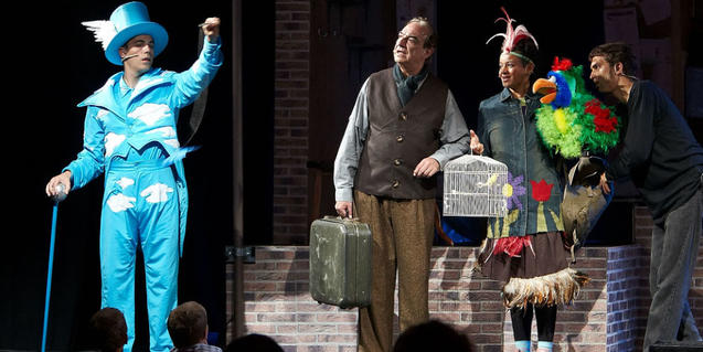 Una escena del musical familiar.