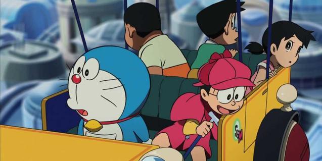 Doraemon y Nobita, escena de la película