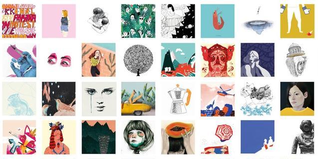 Un collage format per algunes de les obres que veureu a l'exposició