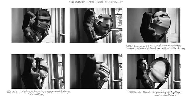 An image by Duane Michals that can be seen in the exhibition