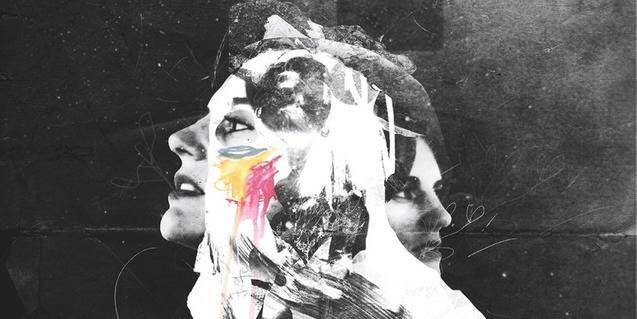 Fotocomposición que fusiona diversos retratos de la artista