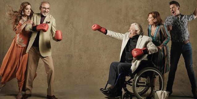 Els protagonistes de 'El filósofo declara' en una imatge promocional