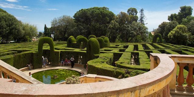 Panorámica del parque del Laberint d'Horta.
