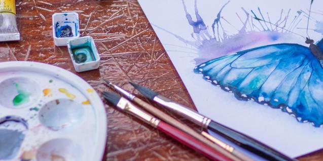 Aquarel·la d'una papallona